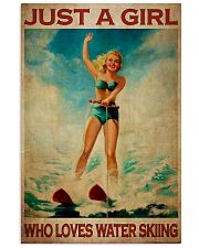 Girl Loves Water Skiing 24x36 Poster front