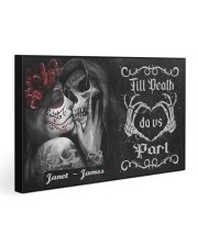 Sugar Skull Till Death Do Us Part 30x20 Gallery Wrapped Canvas Prints thumbnail
