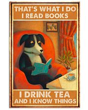 Doggo Reads Books And Know Things 24x36 Poster front
