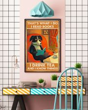 Doggo Reads Books And Know Things 24x36 Poster lifestyle-poster-6