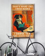 Doggo Reads Books And Know Things 24x36 Poster lifestyle-poster-7