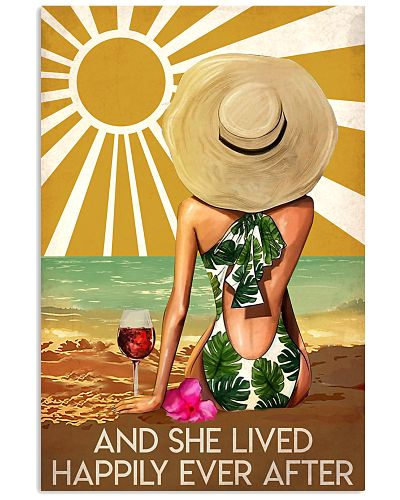 Girl And Wine Lived Happily