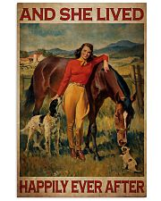 Girl And Horse Live Happily Canvas 24x36 Poster thumbnail