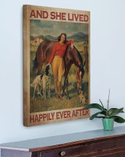Girl And Horse Live Happily Canvas 20x30 Gallery Wrapped Canvas Prints aos-canvas-pgw-20x30-lifestyle-front-01