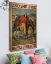 Girl And Horse Live Happily Canvas 20x30 Gallery Wrapped Canvas Prints aos-canvas-pgw-20x30-lifestyle-front-02