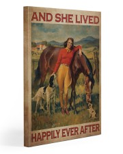 Girl And Horse Live Happily Canvas 20x30 Gallery Wrapped Canvas Prints front