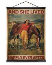 Girl And Horse Live Happily Canvas 12x16 Black Hanging Canvas thumbnail