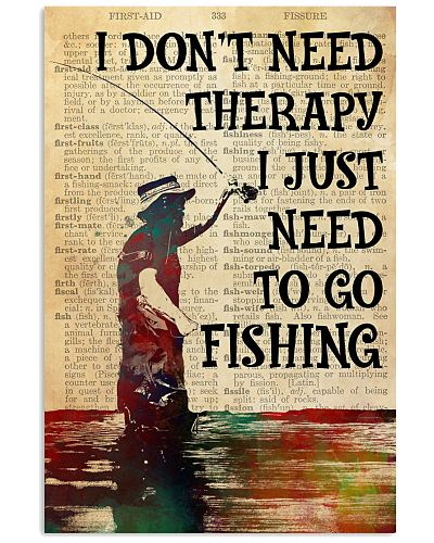 I Don't Need Therapy Fishing
