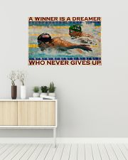 Old Man Don't Stop Swimming 2 36x24 Poster poster-landscape-36x24-lifestyle-01