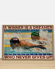 Old Man Don't Stop Swimming 2 36x24 Poster poster-landscape-36x24-lifestyle-03