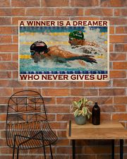 Old Man Don't Stop Swimming 2 36x24 Poster poster-landscape-36x24-lifestyle-20