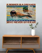 Old Man Don't Stop Swimming 2 36x24 Poster poster-landscape-36x24-lifestyle-21