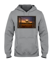 JD Tractor Window View  Hooded Sweatshirt tile