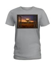 JD Tractor Window View  Ladies T-Shirt tile