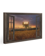 JD Tractor Window View  Gallery Wrapped Canvas Prints tile