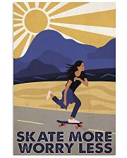 Skate More Worry Less  24x36 Poster front