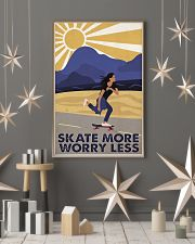 Skate More Worry Less  24x36 Poster lifestyle-holiday-poster-1