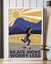 Skate More Worry Less  24x36 Poster lifestyle-poster-4