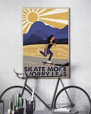 Skate More Worry Less  24x36 Poster lifestyle-poster-7