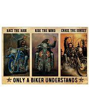 Biker Race The Rain 36x24 Poster front
