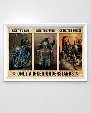 Biker Race The Rain 36x24 Poster poster-landscape-36x24-lifestyle-02