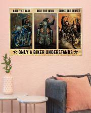 Biker Race The Rain 36x24 Poster poster-landscape-36x24-lifestyle-18