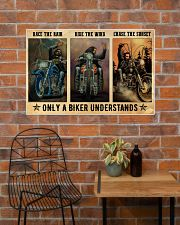 Biker Race The Rain 36x24 Poster poster-landscape-36x24-lifestyle-20