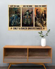 Biker Race The Rain 36x24 Poster poster-landscape-36x24-lifestyle-21