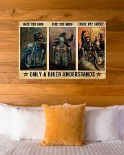 Biker Race The Rain 36x24 Poster poster-landscape-36x24-lifestyle-23