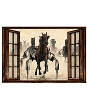 Harness Racing Window  36x24 Poster front