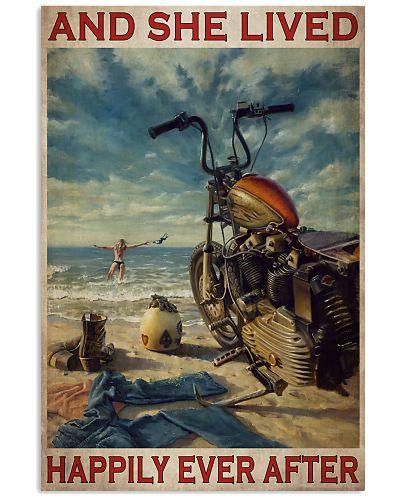 Girl Motorcycle Beach