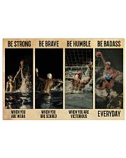 Water Polo Be Badass  36x24 Poster front