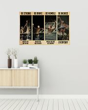 Water Polo Be Badass  36x24 Poster poster-landscape-36x24-lifestyle-01