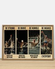 Water Polo Be Badass  36x24 Poster poster-landscape-36x24-lifestyle-03