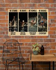 Water Polo Be Badass  36x24 Poster poster-landscape-36x24-lifestyle-20