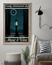 Easily Distracted By Music - Wine 24x36 Poster lifestyle-poster-1