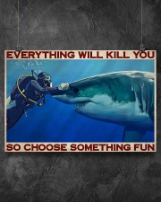 Man Scuba Diving Choose Something Fun 36x24 Poster aos-poster-landscape-36x24-lifestyle-11