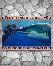Man Scuba Diving Choose Something Fun 36x24 Poster aos-poster-landscape-36x24-lifestyle-12
