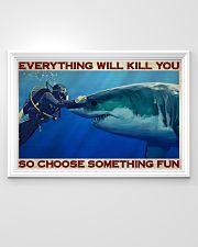 Man Scuba Diving Choose Something Fun 36x24 Poster poster-landscape-36x24-lifestyle-02