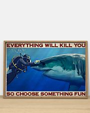 Man Scuba Diving Choose Something Fun 36x24 Poster poster-landscape-36x24-lifestyle-03