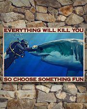 Man Scuba Diving Choose Something Fun 36x24 Poster poster-landscape-36x24-lifestyle-15