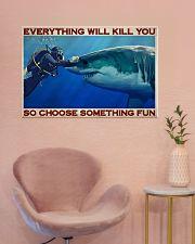 Man Scuba Diving Choose Something Fun 36x24 Poster poster-landscape-36x24-lifestyle-19