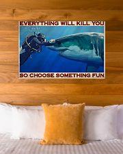 Man Scuba Diving Choose Something Fun 36x24 Poster poster-landscape-36x24-lifestyle-23