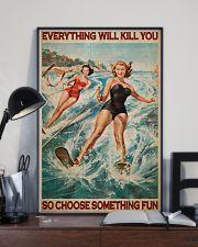 Water Skiing Choose Something Fun 24x36 Poster lifestyle-poster-2