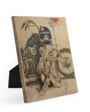 Motorcycle Girl I Am Easel-Back Gallery Wrapped Canvas tile