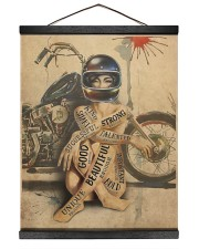 Motorcycle Girl I Am Hanging Canvas tile