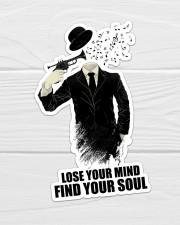 Trumpet Lose Your Mind  Sticker - Single (Vertical) aos-sticker-single-vertical-lifestyle-front-01