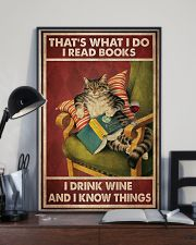 Cat Read Books Drink Wine-R 24x36 Poster lifestyle-poster-2