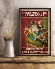 Cat Read Books Drink Wine-R 24x36 Poster lifestyle-poster-3