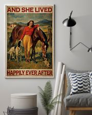 Horse And Girl Live Happily 2 24x36 Poster lifestyle-poster-1